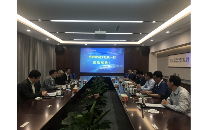 Ding Hua, director of the special skill department of the Municipal Bureau of human resources and social security, and a delegation of 7 people went to investigate the projects declared of the nationa